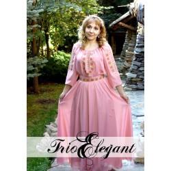 Rochia în stil Tradițional- 11 Trandafiri Roz