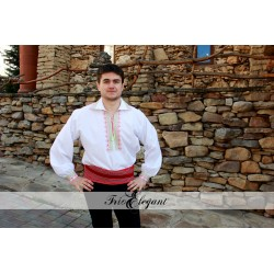 Creastă verde- Cămașă pentru Mire Moldovenească