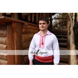 Creastă Roșie- Cămașă pentru Mire Moldovenească