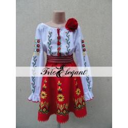 Costum National Moldovenesc pentru fete Nr. 12