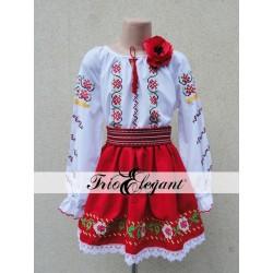 Costum National Moldovenesc pentru fete Nr. 13