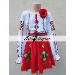 Costum National Moldovenesc pentru fete Nr. 15