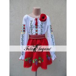 Costum National Moldovenesc pentru fete Nr. 16