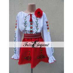 Costum National Moldovenesc pentru fete Nr. 17