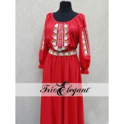 Rochia în stil Tradițional- 11 Trandafiri Roșie
